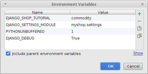 Enviroment variables
